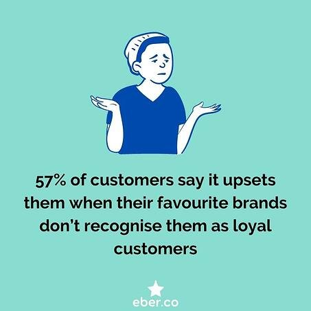 customers who are not recognised as loyal customers are upset