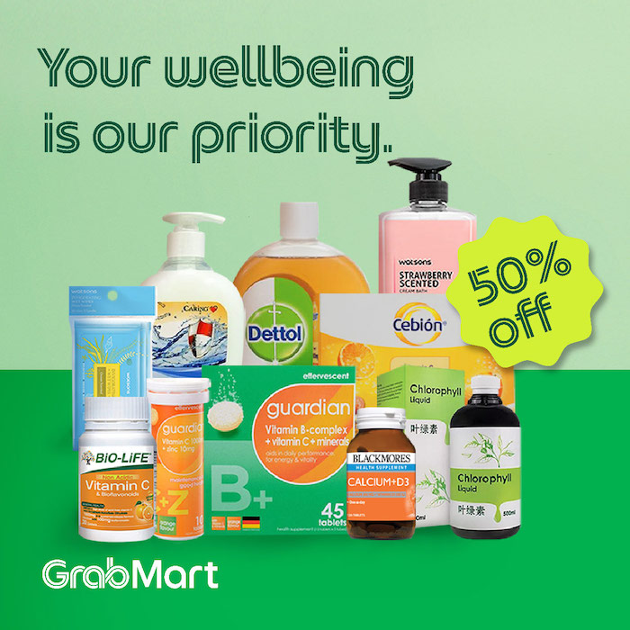 Vitamins promotion by Grab Malaysia