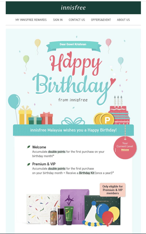 birthday rewards